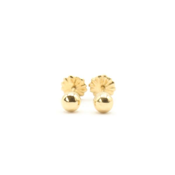 Aros de bebe oro amarillo 18k coleccion petit felin