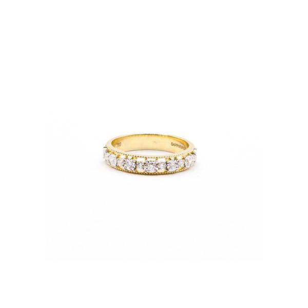 Anillo oro amarillo 18k diamantes