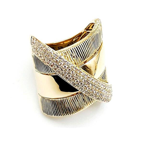 Anillo oro amarillo 122 diamantes