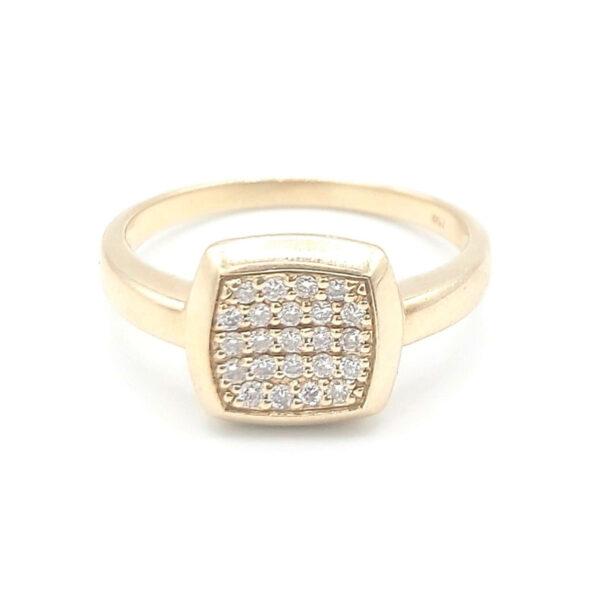 Anillo oro amarillo 23 diamantes