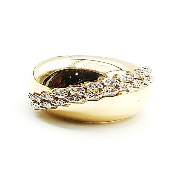 Anillo oro amarillo 44 diamantes