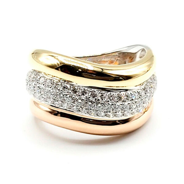 Anillo oro 67 diamantes